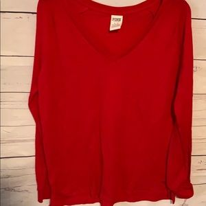 Victoria secrets size medium red longsleeve shirt